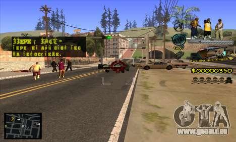 C-HUD Vagos Gang pour GTA San Andreas cinquième écran