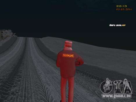 Pak DPS dans un format de l'hiver pour GTA San Andreas cinquième écran