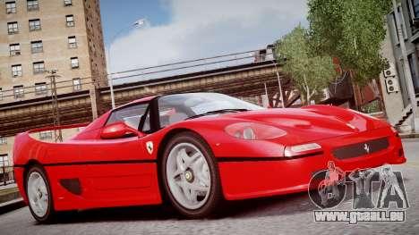 Ferrari F50 1995 für GTA 4 rechte Ansicht