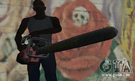 Chasse à l'homme Kettensäge pour GTA San Andreas troisième écran