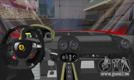 Ferrari LaFerrari v1.0 pour GTA San Andreas vue intérieure