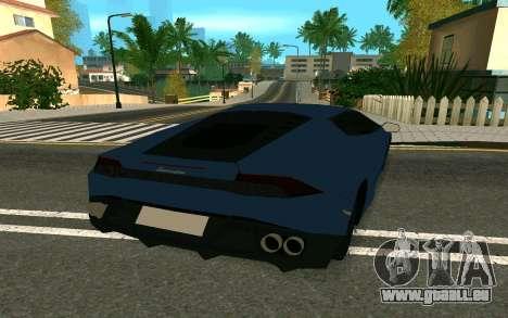 Lamborghini Huracane LP610-4 pour GTA San Andreas vue de droite