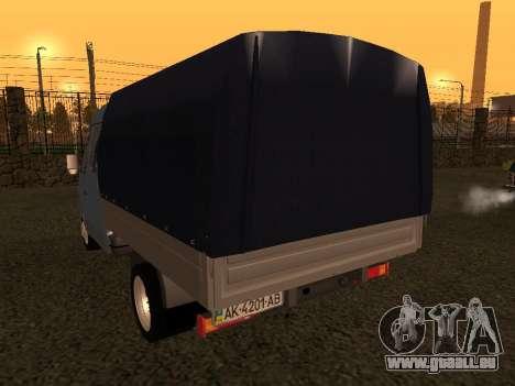 33023 GAZelle pour GTA San Andreas vue de droite