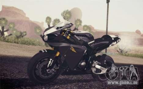 Yamaha YZF R1 2012 Black pour GTA San Andreas