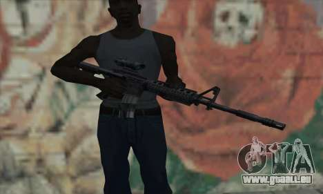 M4 RIS Acog Sight für GTA San Andreas dritten Screenshot
