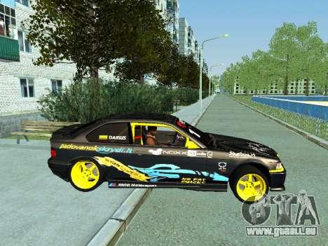 BMW M3 E36 Compact Darius Kepezinskas pour GTA San Andreas sur la vue arrière gauche