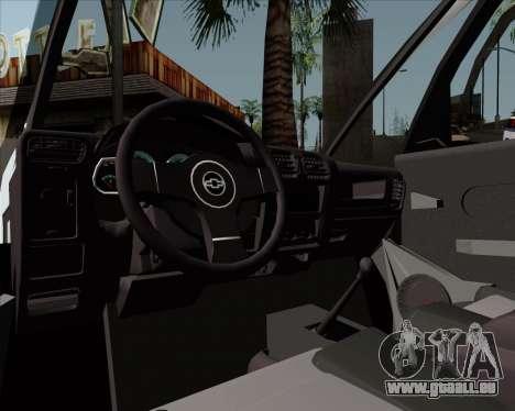 Chevrolet Meriva pour GTA San Andreas vue arrière