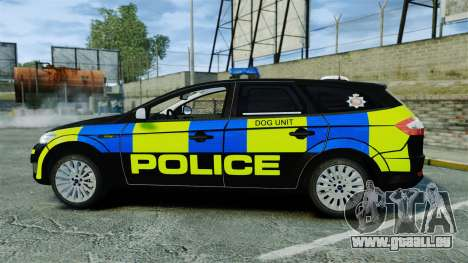 Ford Mondeo Estate Police Dog Unit [ELS] für GTA 4 linke Ansicht