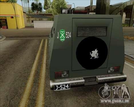 Zorrillo FF.EE pour GTA San Andreas laissé vue