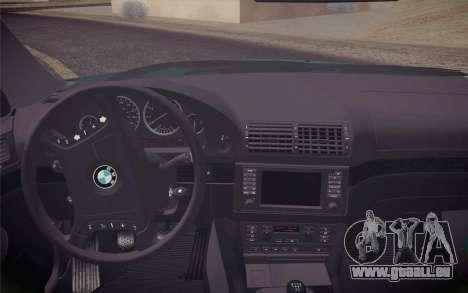 BMW M5 E39 528i Greenoxford pour GTA San Andreas vue de droite