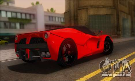 Ferrari LaFerrari v1.0 pour GTA San Andreas vue arrière