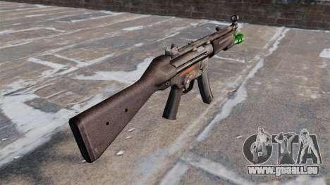 Pistolet mitrailleur HK MP5 avec lampe de poche pour GTA 4 secondes d'écran