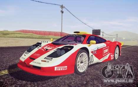 McLaren F1 GTR Longtail 22R pour GTA San Andreas vue intérieure