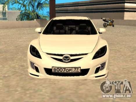 Mazda 6 2010 für GTA San Andreas zurück linke Ansicht
