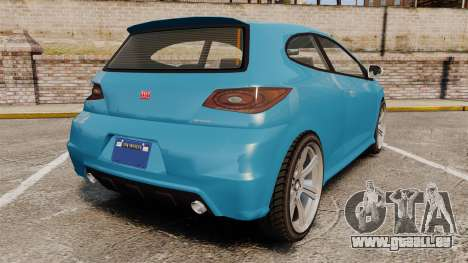 GTA V Dinka Blista pour GTA 4 Vue arrière de la gauche