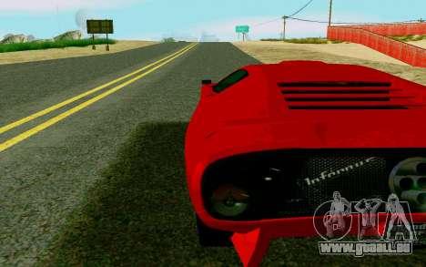 GTA V Pegassi Infernus pour GTA San Andreas sur la vue arrière gauche