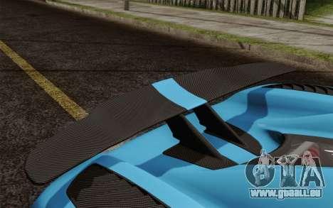 Koenigsegg Agera R für GTA San Andreas obere Ansicht