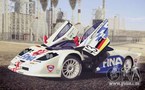 McLaren F1 GTR Longtail 22R für GTA San Andreas Räder