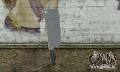 Couteau de cuisine à partir de Postal 3 pour GTA San Andreas deuxième écran
