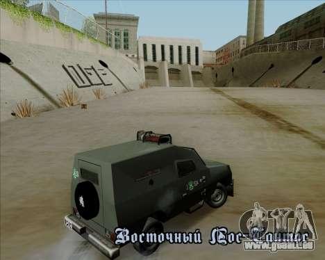 Zorrillo FF.EE pour GTA San Andreas vue intérieure