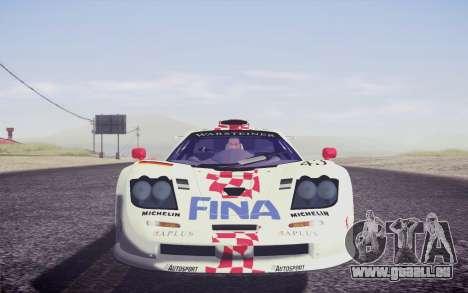 McLaren F1 GTR Longtail 22R pour GTA San Andreas salon
