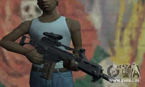 G36C pour GTA San Andreas troisième écran