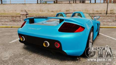 Porsche Carrera GT für GTA 4 hinten links Ansicht
