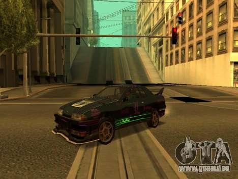 Vinyls pour Elegy pour GTA San Andreas sur la vue arrière gauche