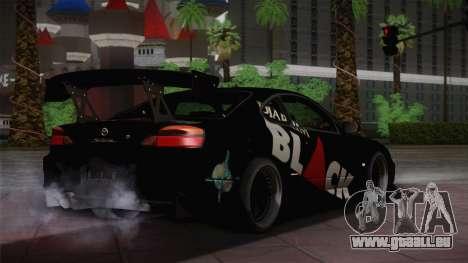 Nissan S15 Street Edition Djarum Black für GTA San Andreas zurück linke Ansicht