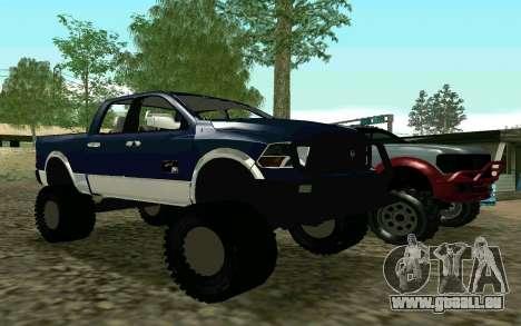 Dodge Ram 4x4 pour GTA San Andreas laissé vue
