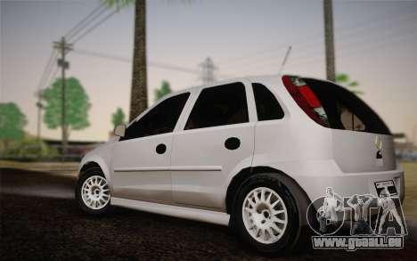 Chevrolet Corsa VHC pour GTA San Andreas laissé vue