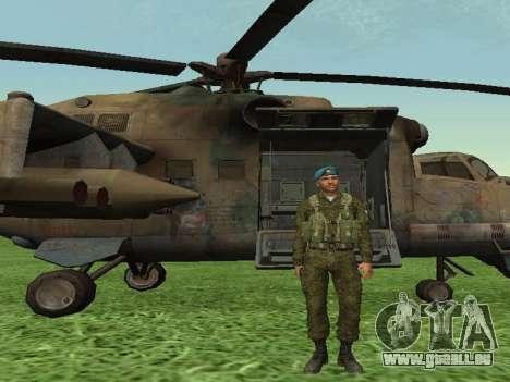 Grenadier De Troupes Aéroportées pour GTA San Andreas troisième écran