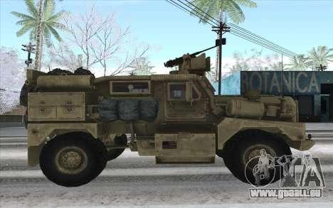 MRAP de BF4 pour GTA San Andreas laissé vue