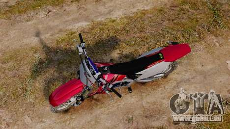 Kawasaki KX250F (Honda) pour GTA 4 est un droit