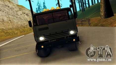 Kamaz 4310 Brevnova pour GTA San Andreas vue de droite