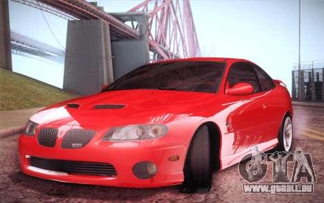 Pontiac GTO 2005 für GTA San Andreas zurück linke Ansicht
