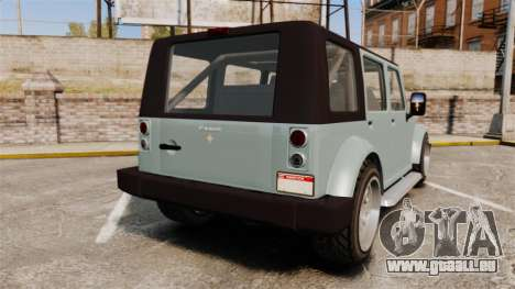 GTA V Canis Mesa pour GTA 4 Vue arrière de la gauche
