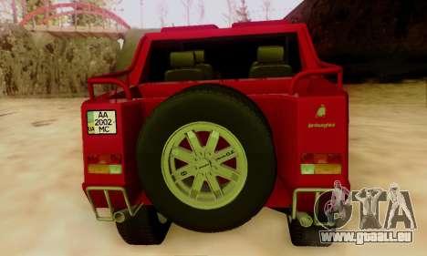 Lamborghini ML002 pour GTA San Andreas sur la vue arrière gauche