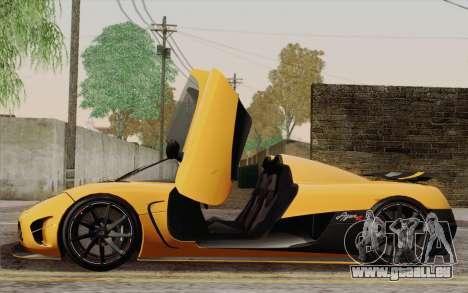 Koenigsegg Agera R für GTA San Andreas Räder