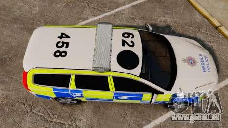 Volvo V70 South Wales Police [ELS] für GTA 4 rechte Ansicht