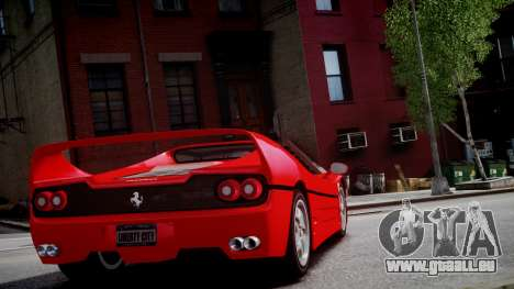 Ferrari F50 1995 für GTA 4 Rückansicht