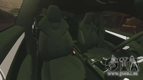 Audi S4 ANPR Interceptor [ELS] pour GTA 4 vue de dessus