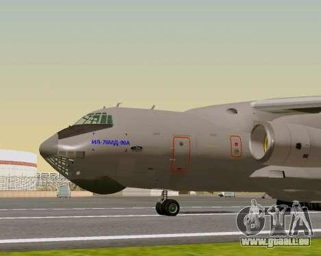 Il-76md-90 (IL-476) pour GTA San Andreas sur la vue arrière gauche