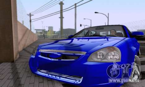LADA 2170 pour GTA San Andreas vue arrière