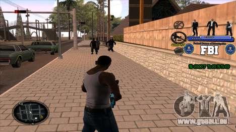 C-HUD FBI pour GTA San Andreas deuxième écran