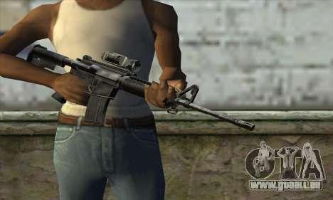 M4A1 Carbine Assault Rifle pour GTA San Andreas troisième écran