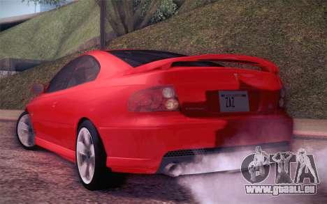 Pontiac GTO 2005 für GTA San Andreas rechten Ansicht