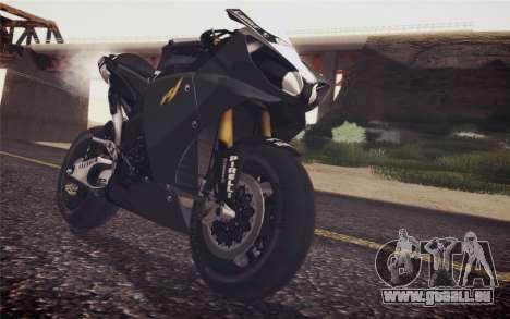 Yamaha YZF R1 2012 Black pour GTA San Andreas vue arrière
