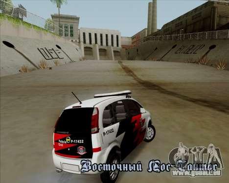 Chevrolet Meriva pour GTA San Andreas vue intérieure