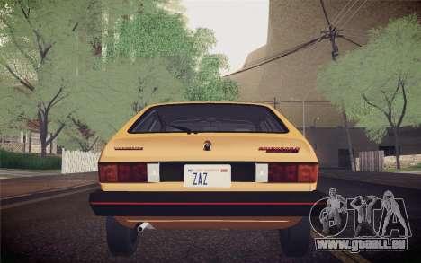 Volkswagen Scirocco S (Typ 53) 1981 IVF für GTA San Andreas Innen